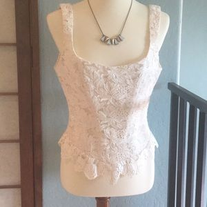 Off white Lace corset top
